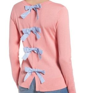 Halogen Bow Back Pink Sweater